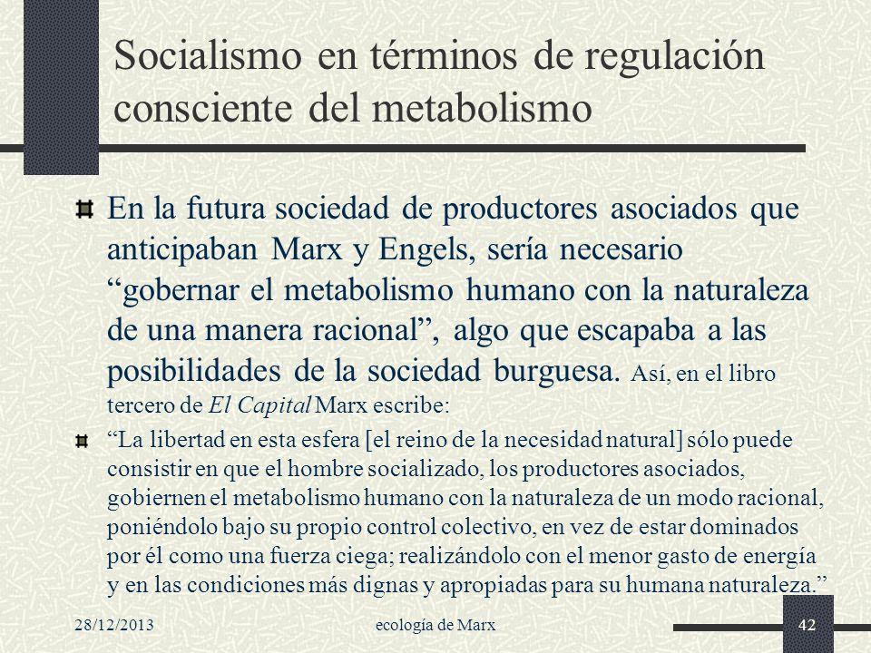 Socialismo en términos de regulación consciente del metabolismo