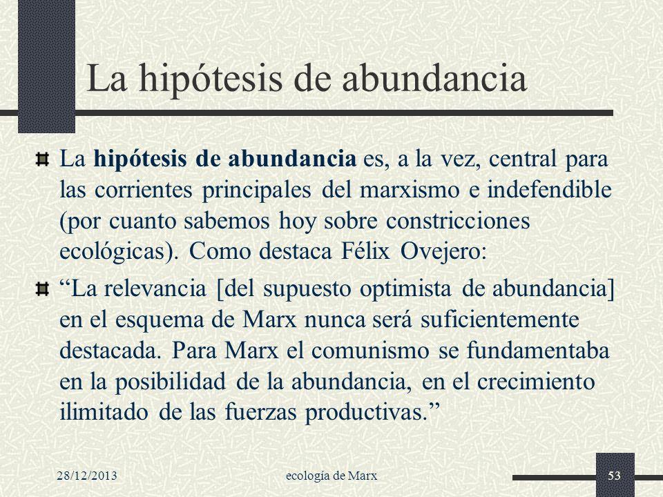 La hipótesis de abundancia