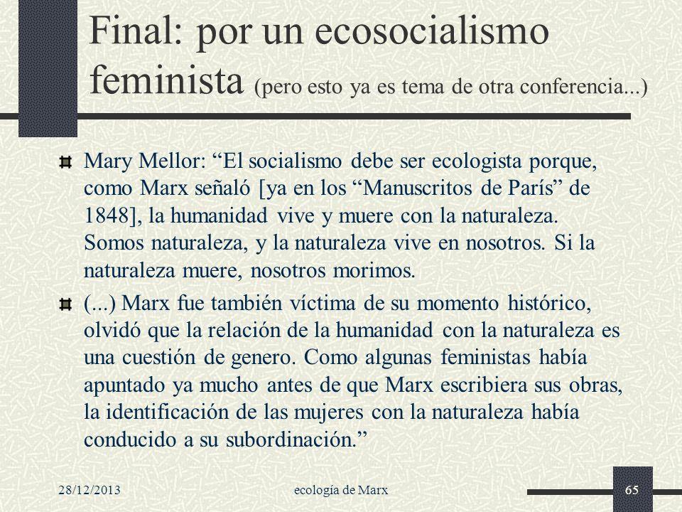 Final: por un ecosocialismo feminista (pero esto ya es tema de otra conferencia...)