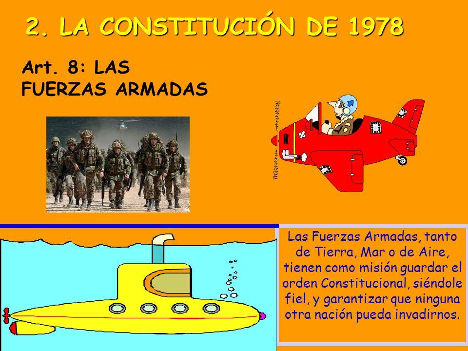 2. LA CONSTITUCIÓN DE 1978 Art. 8: LAS FUERZAS ARMADAS