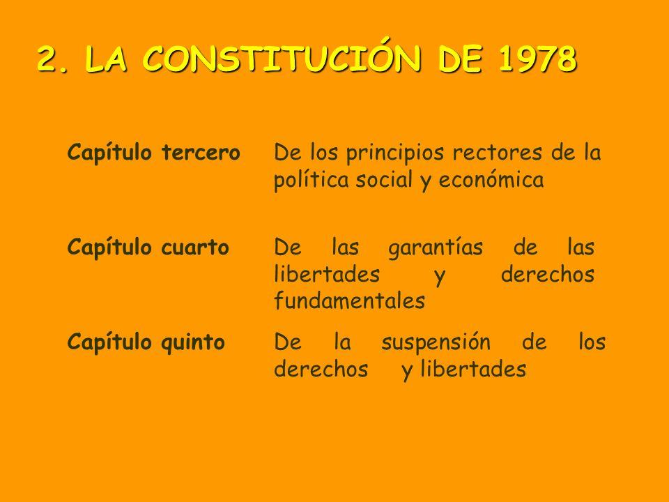 2. LA CONSTITUCIÓN DE 1978 Capítulo tercero