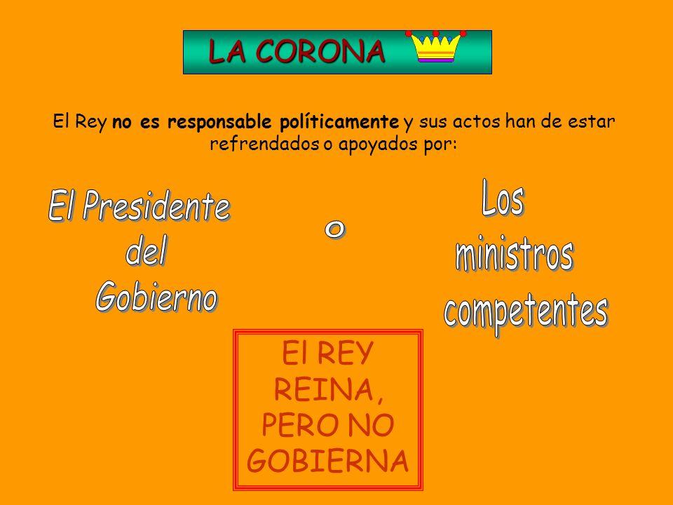 El REY REINA, PERO NO GOBIERNA