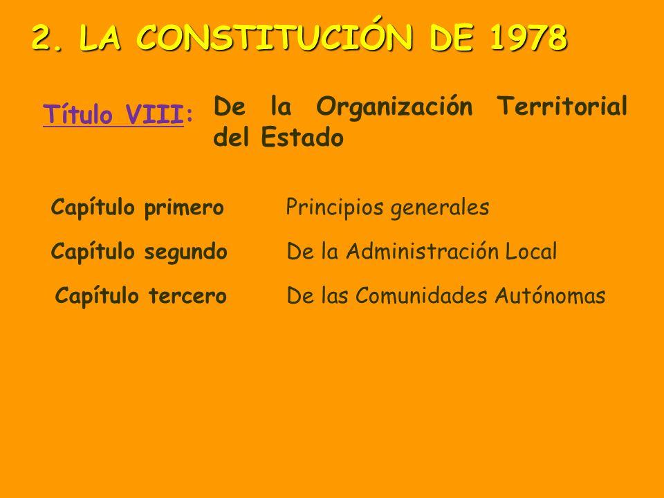 2. LA CONSTITUCIÓN DE 1978 Título VIII: