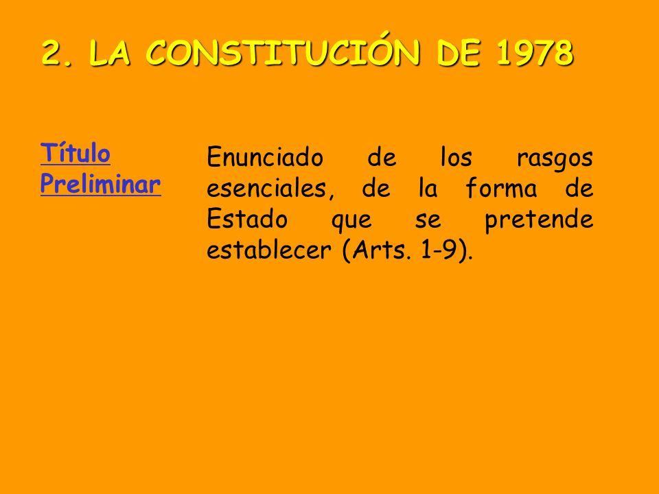 2. LA CONSTITUCIÓN DE 1978 Título Preliminar