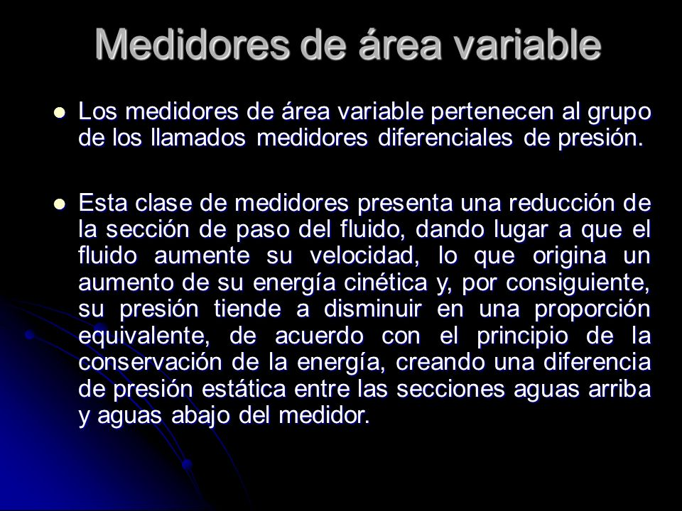 Medidores de área variable