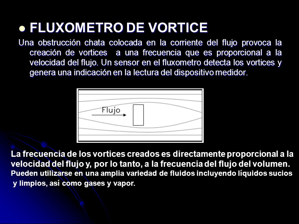 FLUXOMETRO DE VORTICE
