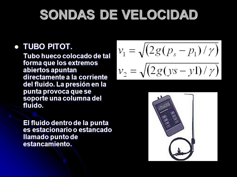 SONDAS DE VELOCIDAD TUBO PITOT.