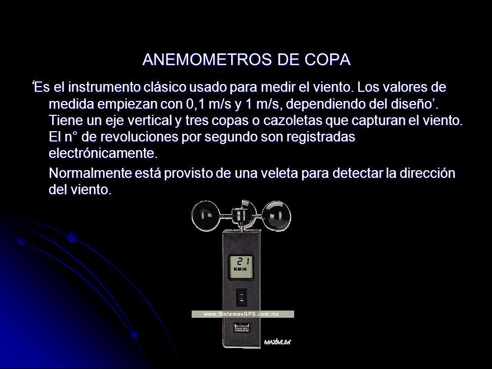 ANEMOMETROS DE COPA