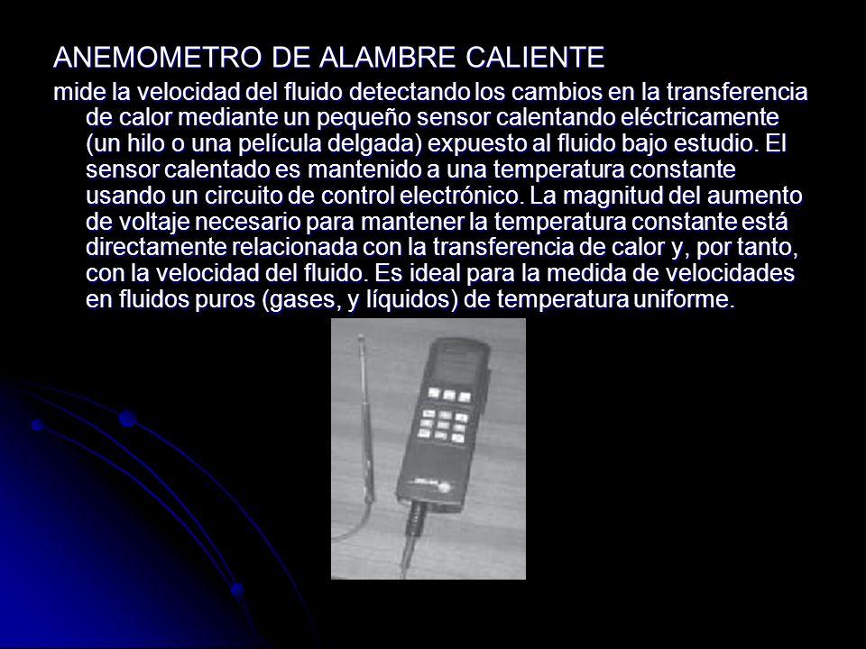 ANEMOMETRO DE ALAMBRE CALIENTE