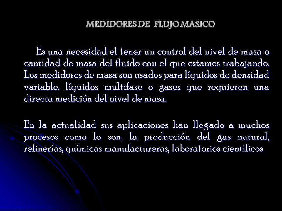 MEDIDORES DE FLUJO MASICO