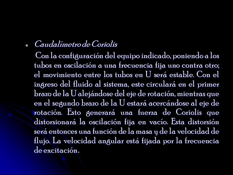 Caudalímetro de Coriolis
