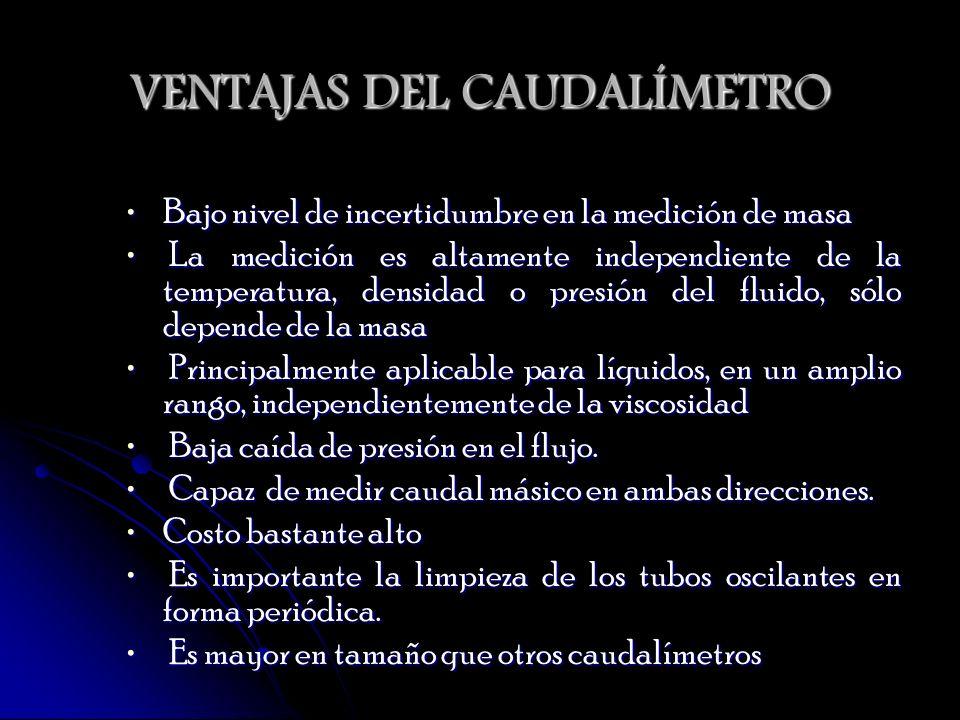 VENTAJAS DEL CAUDALÍMETRO