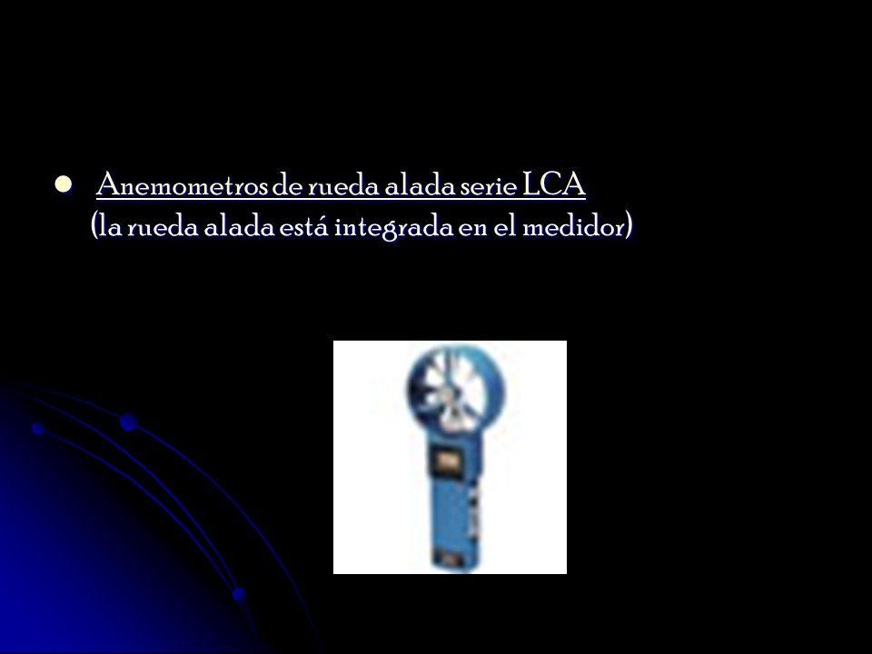 Anemometros de rueda alada serie LCA (la rueda alada está integrada en el medidor)