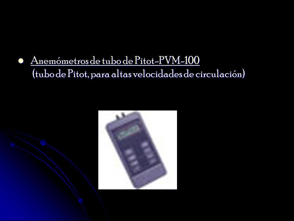 Anemómetros de tubo de Pitot-PVM-100 (tubo de Pitot, para altas velocidades de circulación)