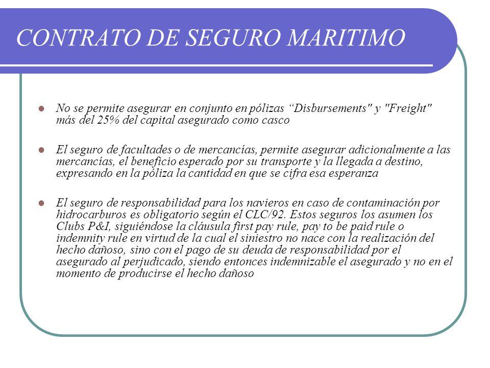 CONTRATO DE SEGURO MARITIMO