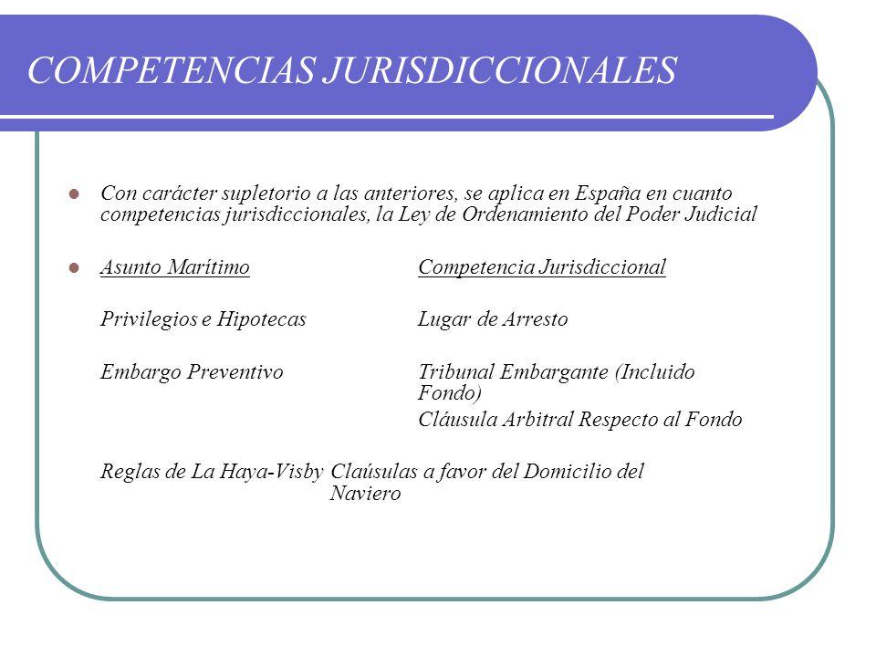 COMPETENCIAS JURISDICCIONALES
