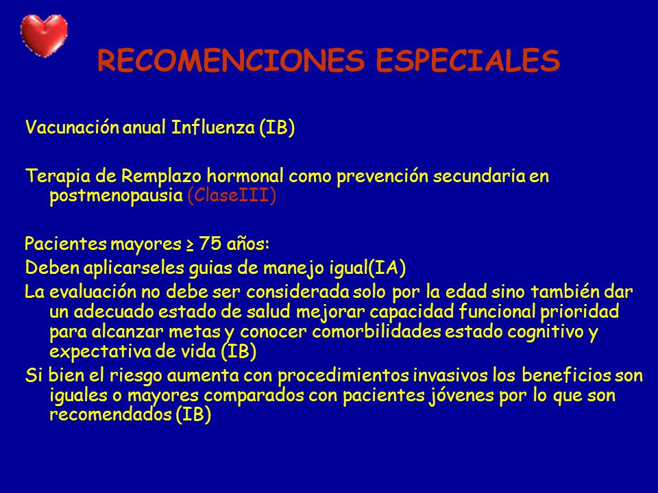 RECOMENCIONES ESPECIALES