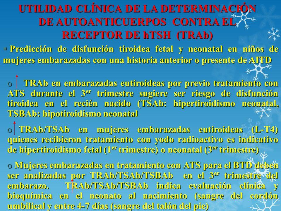 UTILIDAD CLÍNICA DE LA DETERMINACIÓN DE AUTOANTICUERPOS CONTRA EL RECEPTOR DE hTSH (TRAb)