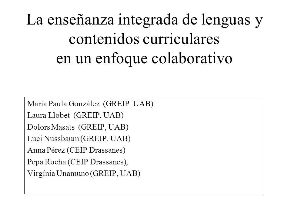 La enseñanza integrada de lenguas y contenidos curriculares en un enfoque colaborativo