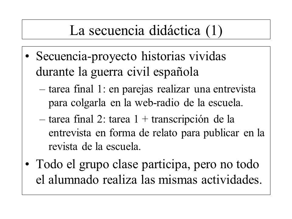 La secuencia didáctica (1)
