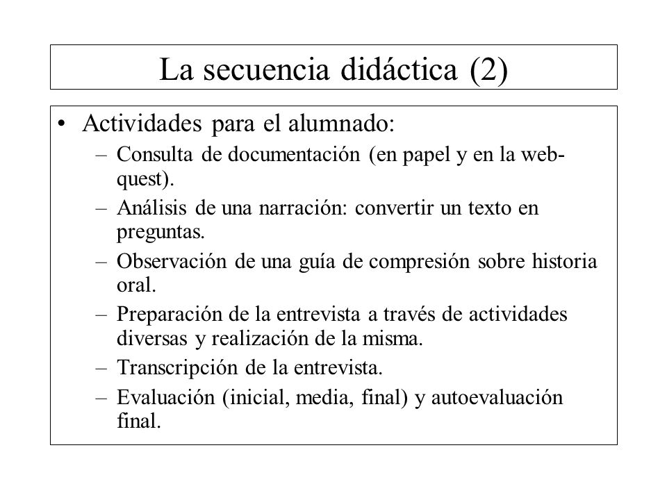 La secuencia didáctica (2)