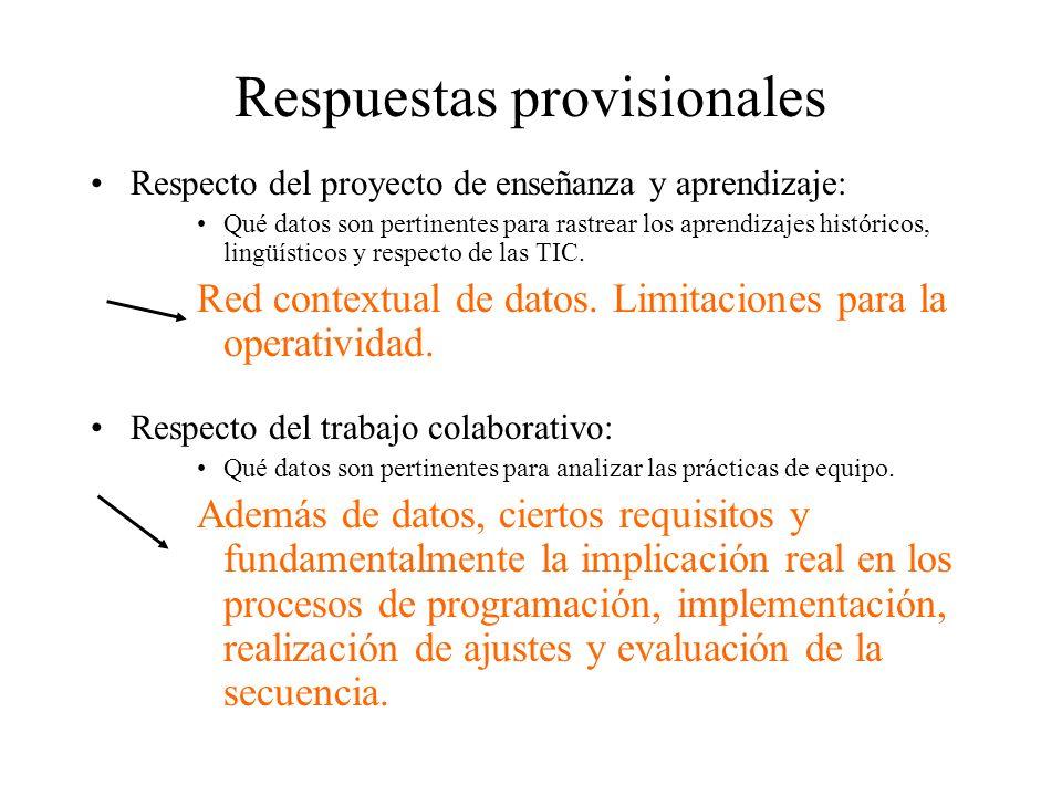 Respuestas provisionales