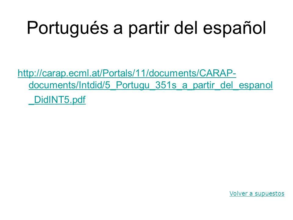 Portugués a partir del español