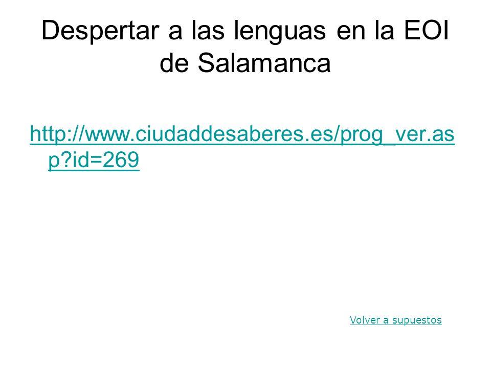 Despertar a las lenguas en la EOI de Salamanca
