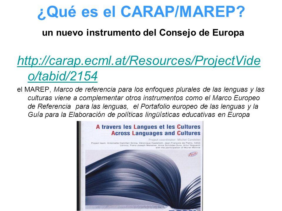 ¿Qué es el CARAP/MAREP un nuevo instrumento del Consejo de Europa