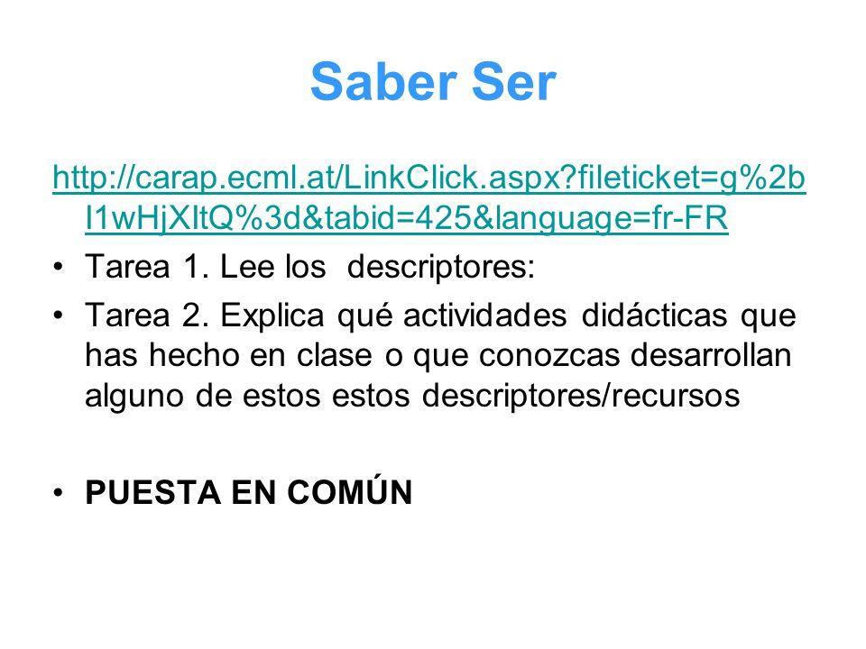Saber Ser http://carap.ecml.at/LinkClick.aspx fileticket=g%2bI1wHjXItQ%3d&tabid=425&language=fr-FR.
