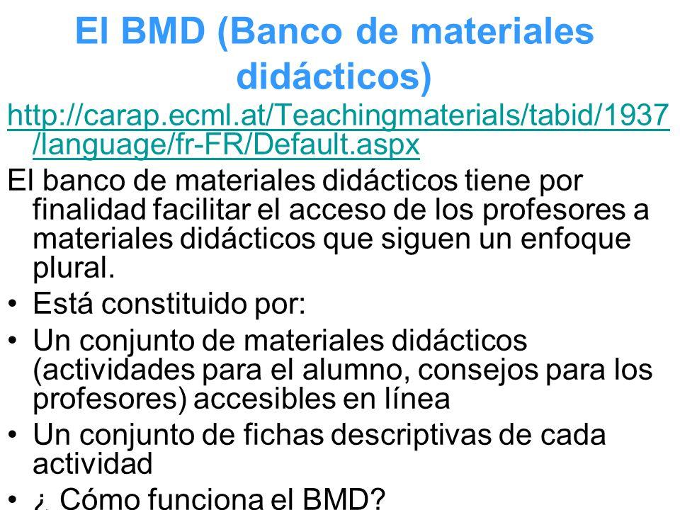 El BMD (Banco de materiales didácticos)