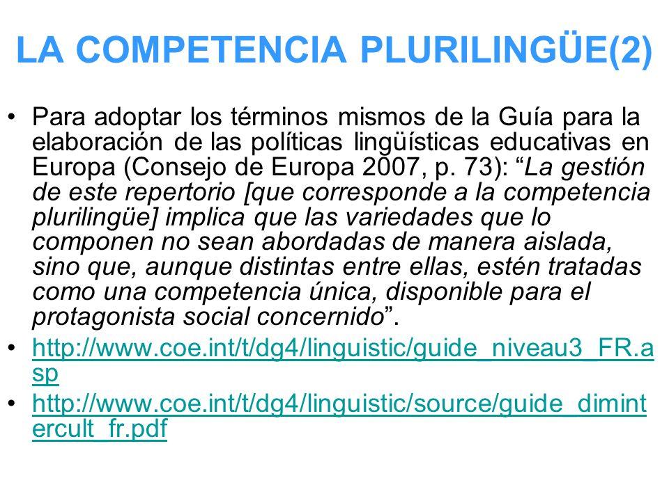 LA COMPETENCIA PLURILINGÜE(2)