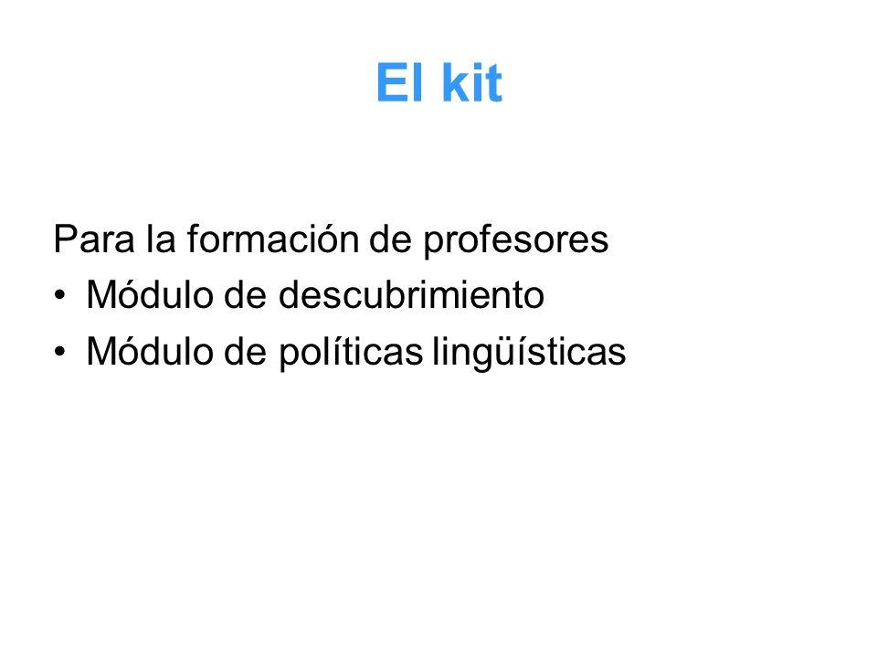 El kit Para la formación de profesores Módulo de descubrimiento