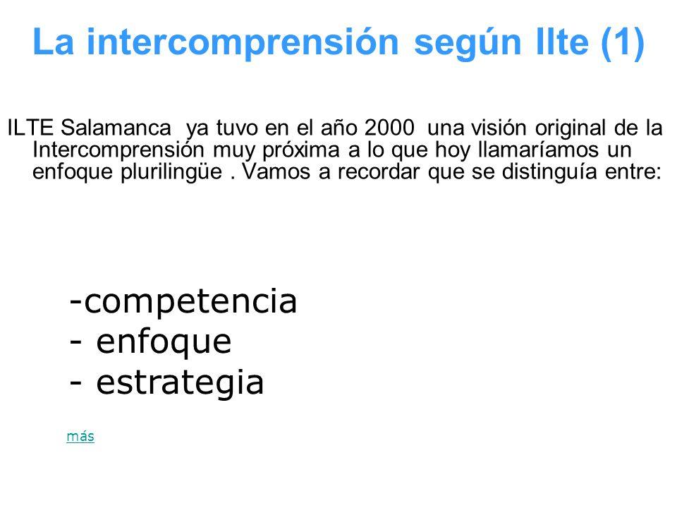 La intercomprensión según Ilte (1)