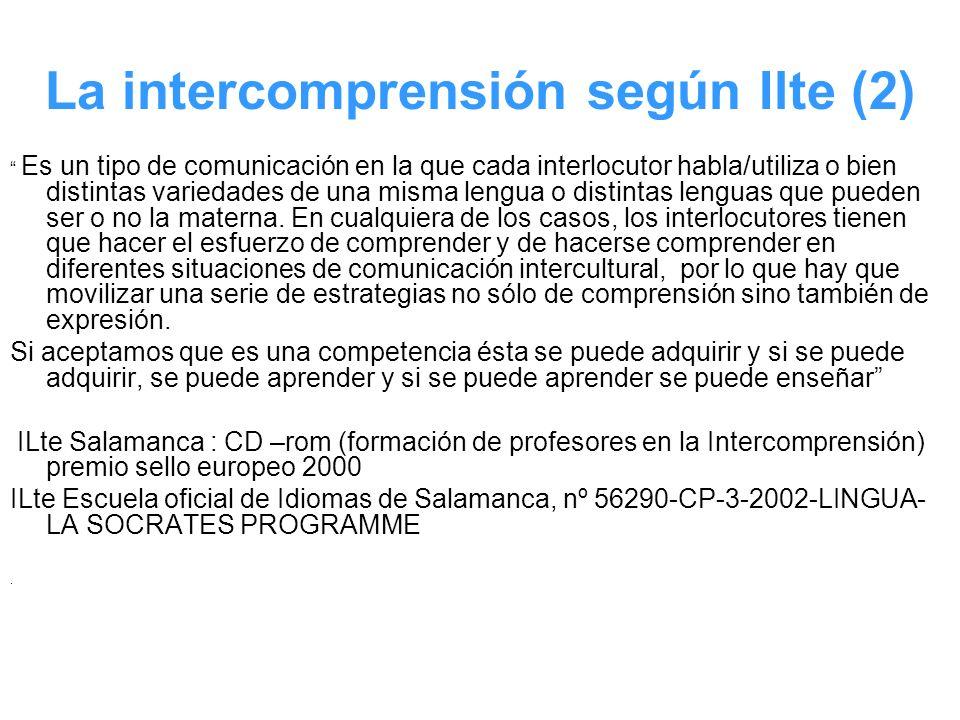 La intercomprensión según Ilte (2)