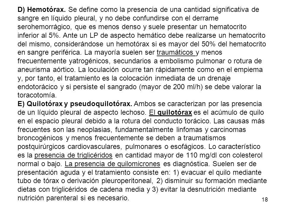 D) Hemotórax.