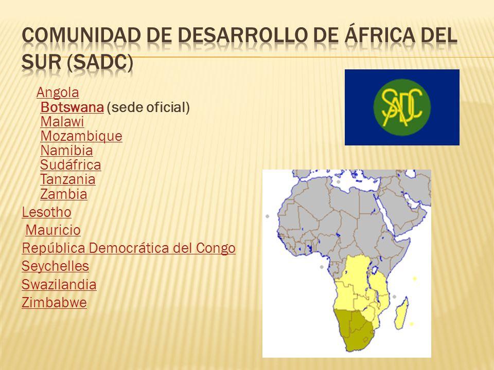 Comunidad de desarrollo de áfrica del sur (sadc)