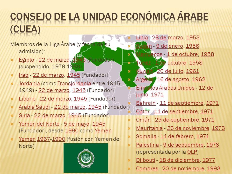 Consejo de la unidad económica árabe (cuea)