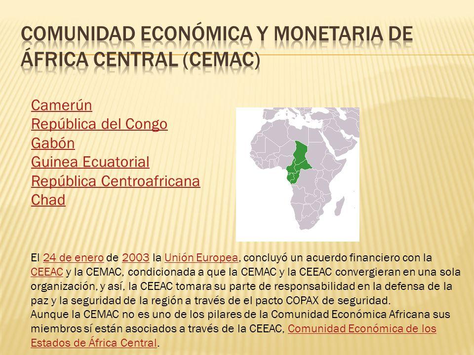 Comunidad económica y monetaria de áfrica central (cemac)