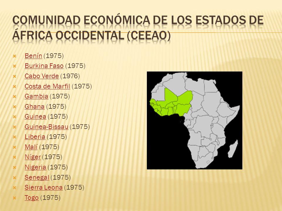 Comunidad económica de los estados de áfrica occidental (ceeao)