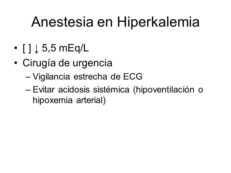 Anestesia en Hiperkalemia