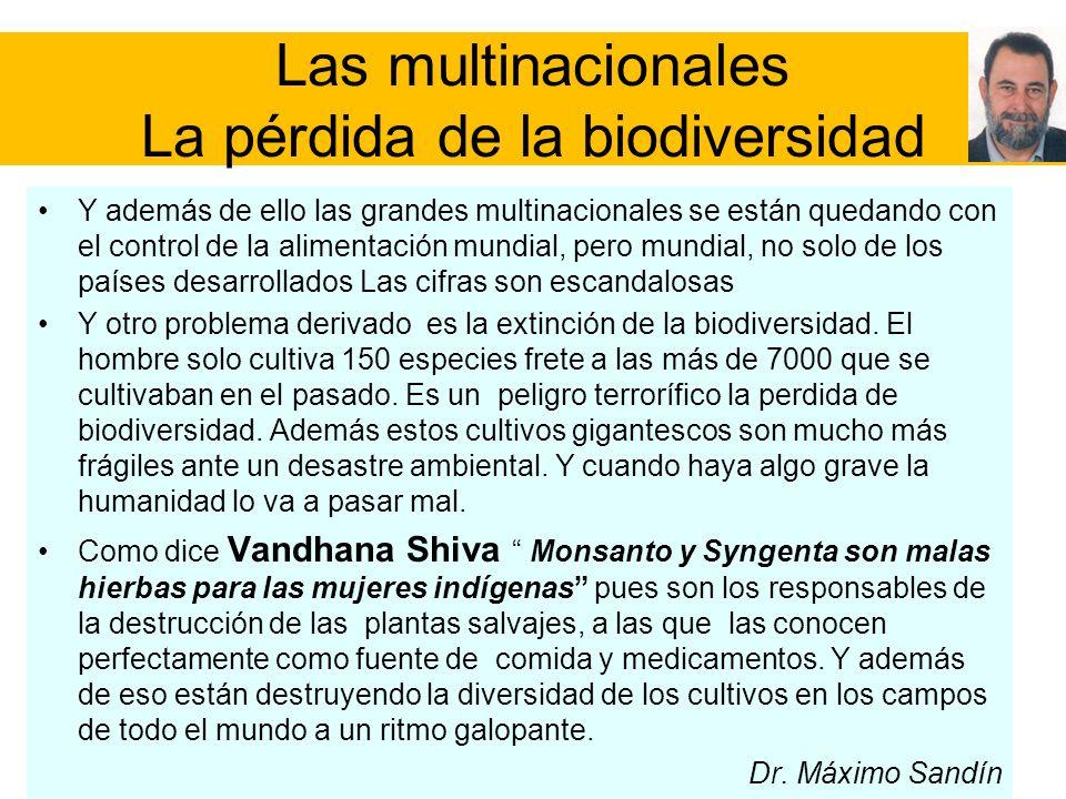 Las multinacionales La pérdida de la biodiversidad