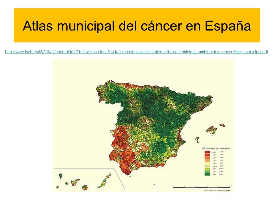 Atlas municipal del cáncer en España