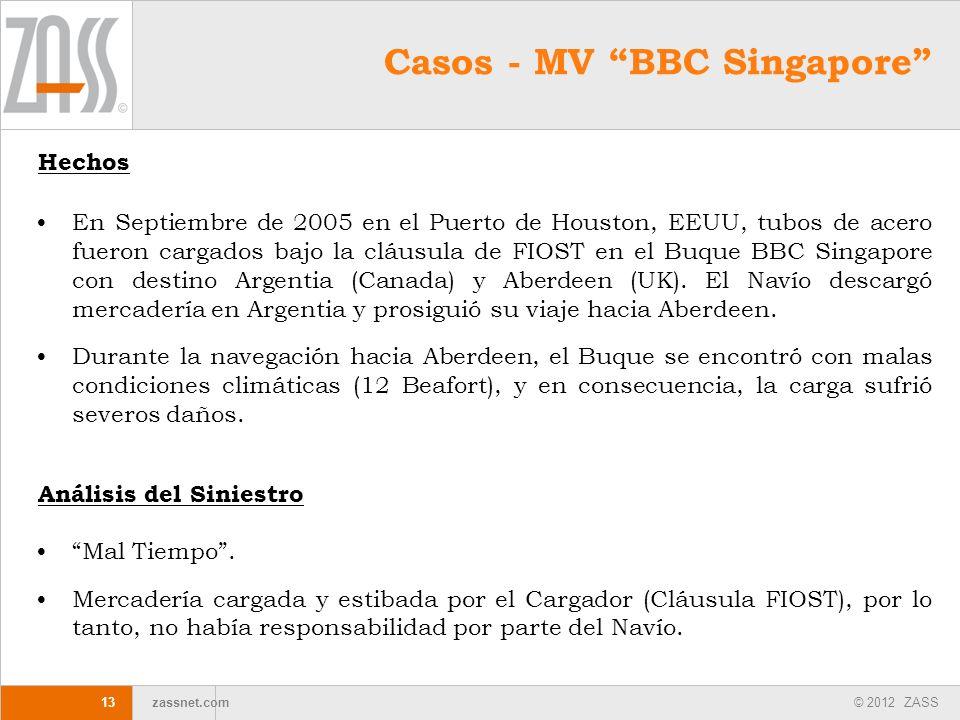 Casos - MV BBC Singapore