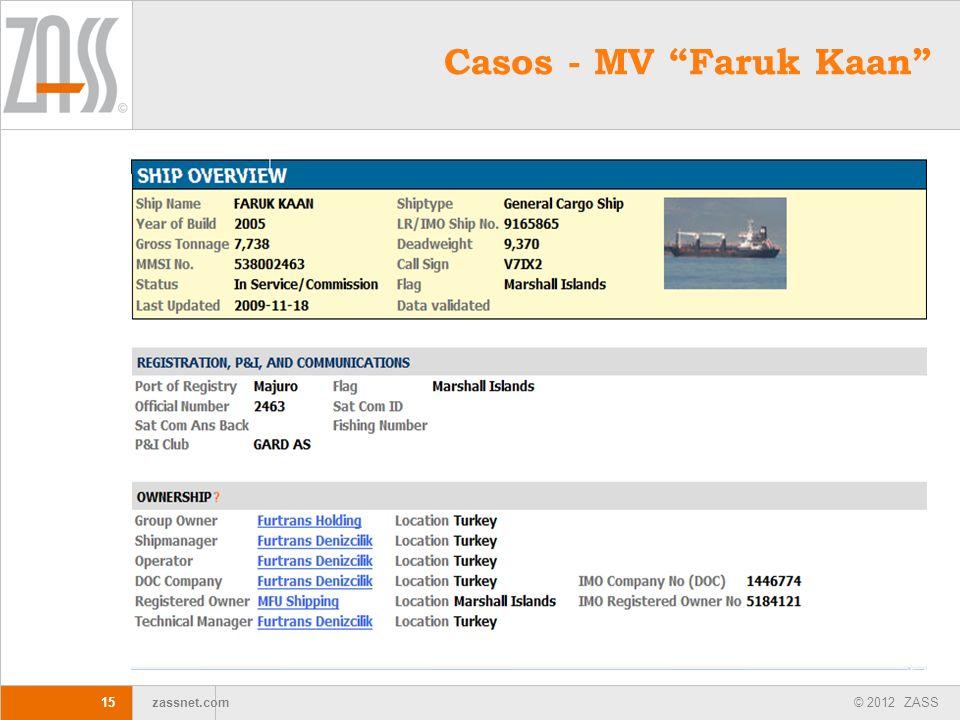 Casos - MV Faruk Kaan