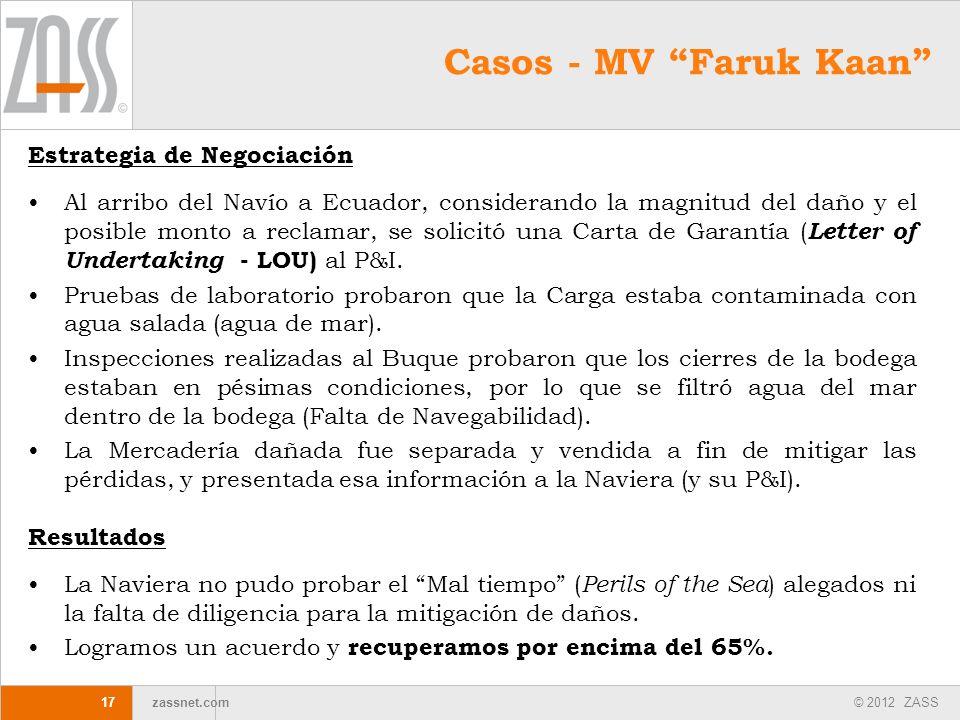 Casos - MV Faruk Kaan Estrategia de Negociación