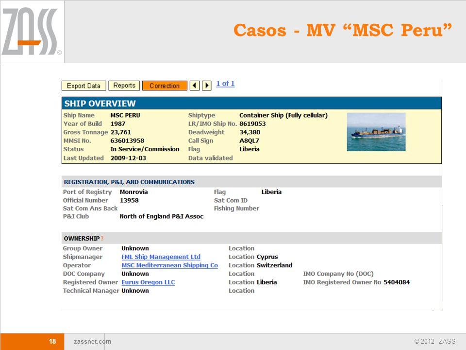 Casos - MV MSC Peru