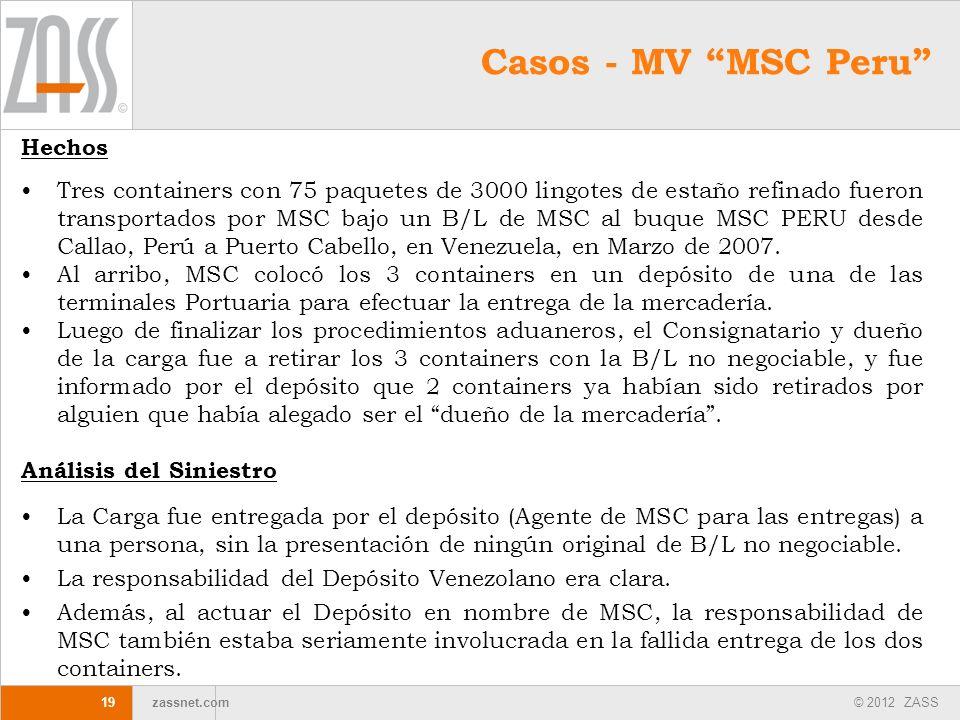 Casos - MV MSC Peru Hechos