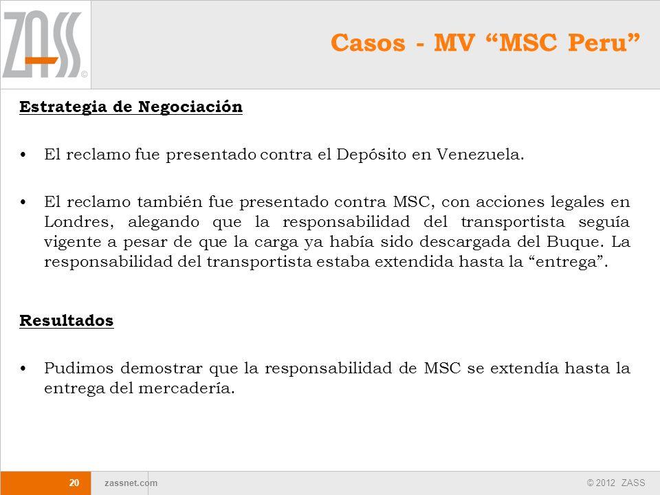 Casos - MV MSC Peru Estrategia de Negociación