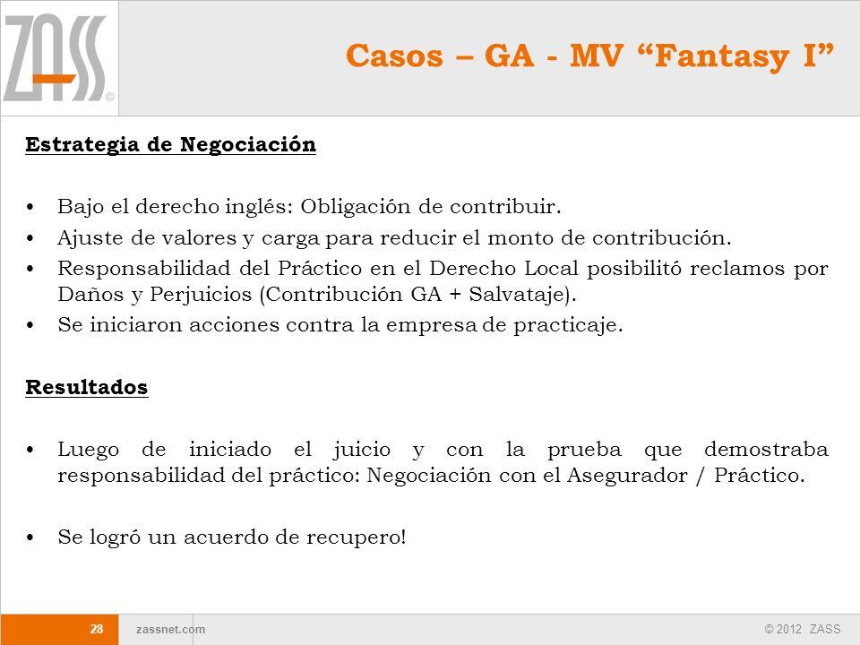 Casos – GA - MV Fantasy I
